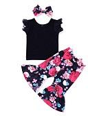 זול סטים של ביגוד לתינוקות-סט של בגדים כותנה ארוך ללא שרוולים דפוס פעיל בנות תִינוֹק