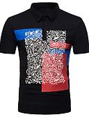 baratos Camisetas & Regatas Masculinas-Homens Polo Básico Estampado, Geométrica