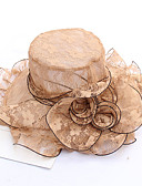 abordables Sombreros de  Moda-Mujer Volante Sombrero de Paja - Activo / Vacaciones Un Color
