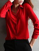 abordables Camisas de Hombre-Mujer Tallas Grandes Blusa, Cuello Camisero Un Color