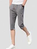tanie Koszulki i tank topy męskie-Męskie Moda miejska Szczupła Krótkie spodnie Spodnie Jendolity kolor