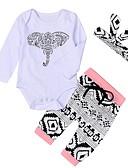 povoljno Maxi haljine-Dijete Djevojčice Aktivan Print Dugih rukava Duga Pamuk Komplet odjeće