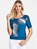 baratos Camisetas Femininas-Mulheres Camiseta Vintage Geométrica
