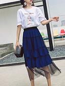 povoljno Ženski dvodijelni kostimi-Žene Majica - Jednobojni Suknja
