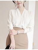 cheap Romantic Lace Dresses-Women's Vintage Plus Size Puff Sleeve Cotton Blouse - Solid Colored / Geometric Black & White, Tassel