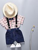 povoljno Baby Boys' One-Piece-Dijete Dječaci Karirani uzorak Kratkih rukava Komplet odjeće