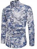 ieftine Tricou Bărbați-Bărbați Mărime Plus Size Cămașă Bloc Culoare / Manșon Lung