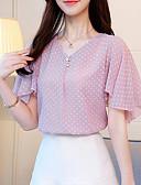 ieftine Cămașă-Pentru femei În V Bluză Buline