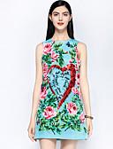 זול 2017ביקיני ובגדי ים-מעל הברך חרוזים / דפוס, פרחוני - שמלה גזרת A סגנון רחוב בגדי ריקוד נשים