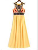 זול שמלות נשים-מקסי גיאומטרי - שמלה נדן בגדי ריקוד נשים