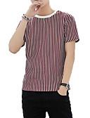 povoljno Muške majice i potkošulje-Majica s rukavima Muškarci - Osnovni Praznik Prugasti uzorak / Color block