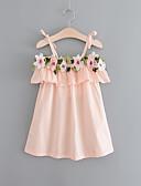 Χαμηλού Κόστους Φορέματα για κορίτσια-Παιδιά Κοριτσίστικα Γλυκός / Μπόχο Εξόδου / Παραλία Φλοράλ Με Κορδόνια Αμάνικο Ως το Γόνατο Βαμβάκι / Ακρυλικό Φόρεμα Λευκό