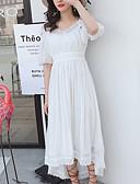 זול שמלות נשים-צווארון V א-סימטרי שמלה בתולת ים \חצוצרה רזה ליציאה בגדי ריקוד נשים
