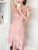 olcso Dresses For Date-Női Alkalmi / Munka Egyenes Ruha Térd feletti