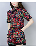 tanie T-shirt-Damskie Puszysta Bawełna Aktywny Bufka Zestaw - Pofałdowany, Solidne kolory Nogawka