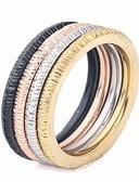 povoljno Bluza-Par je Prstenasti set Prsten za više prstiju 1pc Duga Titanium Steel Krug dame Stilski Jednostavan Ulica Klub Jewelry Sa stilom Stog odgovarajući Kreativan Cool
