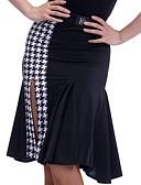 abordables Faldas para Mujer-Baile Latino Pantalones y Faldas Mujer Entrenamiento Elastán Separado Cintura Media Faldas