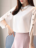 cheap Women's Blouses-Women's Basic / Street chic Blouse - Solid Colored