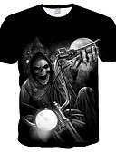 ieftine Maieu & Tricouri Bărbați-Bărbați Tricou Cranii Plasă