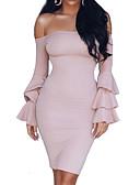 povoljno Ženske haljine-Žene Ulični šik Korice Haljina Jednobojni Mini