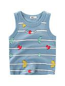 Χαμηλού Κόστους Μπλουζάκια για αγόρια-Παιδιά Αγορίστικα Βασικό Καθημερινά Ριγέ Αμάνικο Κανονικό Βαμβάκι / Πολυεστέρας Κοντομάνικο Γκρίζο