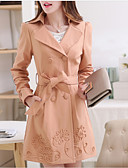 cheap Women's Trench Coat-Women's Sophisticated Trench Coat - Solid Colored