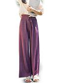 baratos Blusas Femininas-Mulheres Cintura Alta Chinos Calças - Sólido