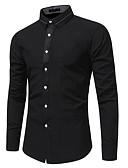 abordables Camisas de Hombre-Hombre Chic de Calle Camisa Un Color