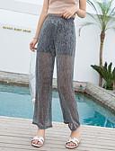 baratos Blusas Femininas-Mulheres Moda de Rua Perna larga Calças - Sólido