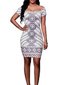 tanie Print Dresses-Damskie Wyjściowe Szczupła Pochwa Sukienka Halter Nad kolano