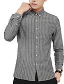 povoljno Muške košulje-Majica Muškarci Rad Prugasti uzorak