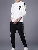 abordables Chaquetas y Abrigos de Hombre-Hombre Manga Larga Activewear Un Color Escote Redondo