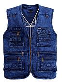 cheap Men's Jackets & Coats-Men's Street chic Vest - Solid Colored