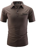cheap Men's Polos-Men's Basic Polo - Solid Colored