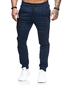 ieftine Pantaloni Bărbați si Pantaloni Scurți-Bărbați Activ / De Bază Pantaloni Chinos / Pantaloni Sport Pantaloni Mată