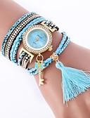 baratos Relógios Masculinos-Mulheres Bracele Relógio Chinês Relógio Casual / imitação de diamante PU Banda Casual / Fashion Preta / Branco / Azul