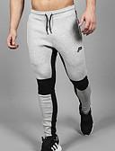ieftine Pantaloni Bărbați si Pantaloni Scurți-Bărbați Bumbac Pantaloni Sport Pantaloni Bloc Culoare