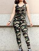 povoljno Ženski jednodijelni kostimi-Žene Osnovni Jumpsuits kamuflaža