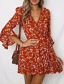 cheap Print Dresses-Women's Basic Chiffon Dress - Floral Print