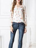 tanie Sukienki-Bluzka Damskie Podstawowy Z odsłoniętymi ramionami Luźna - Geometric Shape / Wiosna / Lato / Wzory kwiatów