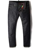 povoljno Muške duge i kratke hlače-Muškarci Osnovni Traperice / Chinos Hlače Jednobojni