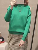 povoljno Majica s rukavima-Žene Ulični šik / Sofisticirano Pullover Jednobojni