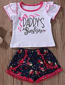 levne Sady oblečení na miminka-Dítě Dívčí Základní Denní Jednobarevné Krátký rukáv Standardní Polyester Sady oblečení Bílá / Toddler
