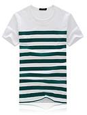 povoljno Muške majice i potkošulje-Majica s rukavima Muškarci - Vintage Party / Dnevno Jednobojni Rese Crno-bijela