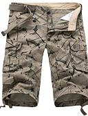 billiga Herrbyxor och shorts-Herr Grundläggande Chinos / Shorts / Cargobyxor Byxor - Enfärgad Grå