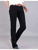 abordables Camisas de Hombre-Hombre Básico Vaqueros Pantalones - Un Color