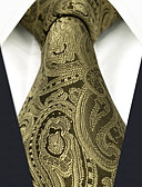 cheap Men's Ties & Bow Ties-Men's Party / Work Necktie - Color Block / Paisley / Jacquard