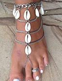 preiswerte Bikinis-Damen Mehrlagig Barfußsandalen Fußschmuck Hülle Sonne Hülle damas Stilvoll Klassisch Fusskettchen Schmuck Silber Für Bikini