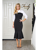 cheap Women's Blouses-Women's Going out Slim Sheath Dress Shirt Collar / Summer / Fall