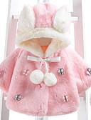 povoljno Vanjska odjeća za bebe-Dijete Djevojčice Osnovni Dnevno Rukav leptir Kolaž Kolaž Dugih rukava Normalne dužine Pamuk Jakna i kaput Blushing Pink / Dijete koje je tek prohodalo